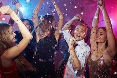 Danse dans le club Photos stock