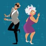 Danse de baby boomers illustration stock