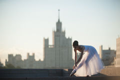 Danse de ballerine au centre de Moscou Photo libre de droits