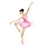 Danse de ballerine d'aquarelle Images libres de droits