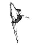 Danse de ballerine Illustration d'aquarelle sur le fond blanc illustration de vecteur