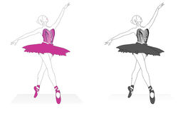 Danse de ballet illustration libre de droits