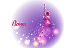 Danse de ballet avec la ligne conception de point Photographie stock