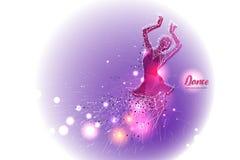 Danse de ballet avec la ligne conception de point Photos libres de droits