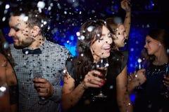 Danse de confettis Photos stock