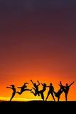 Danse de coucher du soleil Photos libres de droits