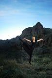 Danse de coucher du soleil Photo libre de droits