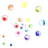Danse de couleur d'arc-en-ciel Photographie stock libre de droits