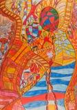Danse de couleurs Images libres de droits