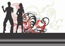 Danse de couples illustration stock