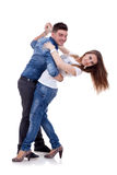 Danse de couples Images libres de droits
