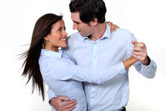 Danse de couples Photo stock