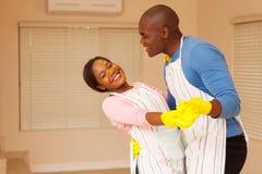 Danse de couples d'afro-américain Image stock