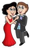 danse de couples de dessin animé illustration stock