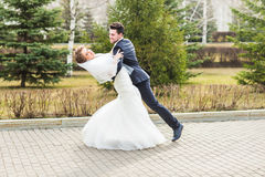 Danse de couples de mariage en parc photographie stock