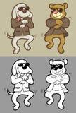 Danse de crabot et d'ours Photographie stock libre de droits
