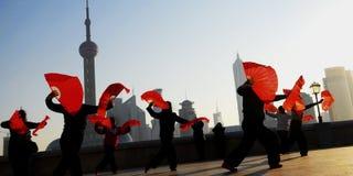 Danse de culture de chinois traditionnel montrant le concept photographie stock