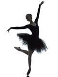 Danse de danseur de ballet de ballerine de jeune femme Photos libres de droits