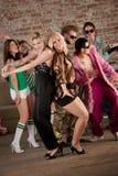 Danse de deux filles Image stock