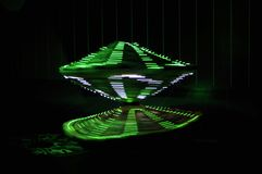 Danse de Digital dans la figure verte ou abstraite photos stock