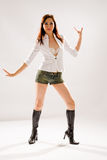 Danse de disco de femme Photographie stock libre de droits