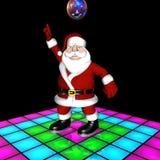 Danse de disco de Santa Photos libres de droits