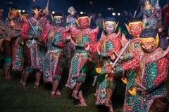 Danse de drame de Khon Ramakien ou de Ramayana Image libre de droits