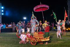 Danse de drame de Khon Ramakien ou de Ramayana Photo libre de droits
