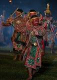 Danse de drame de Khon Ramakien ou de Ramayana Photos libres de droits