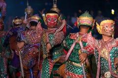 Danse de drame de Khon Ramakien ou de Ramayana Image stock