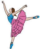 Danse de femme Photographie stock libre de droits