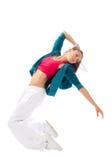 Danse de femme de danse dans moderne Photos libres de droits