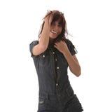 Danse de femme sexy, belle, jeune Photo stock