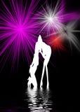 Danse de femmes Photos libres de droits