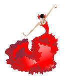 Danse de flamenco Photo libre de droits