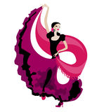Danse de flamenco Images libres de droits
