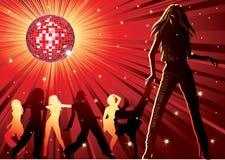 Danse de gens dans la boîte de nuit illustration de vecteur