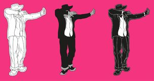 Danse de geste de limande illustration de vecteur