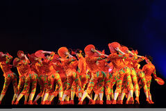 Danse de groupe   Photo stock