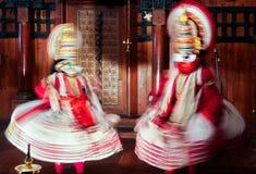 Danse de Kathakali au Kerala, Inde image libre de droits