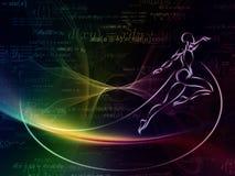 Danse de la géométrie Photos libres de droits