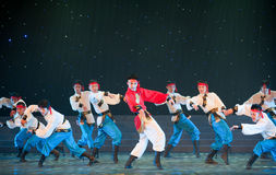 Danse de la Mongolie : le coursier a fonctionné Photos libres de droits