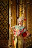 Danse de la Tha?lande de culture d'art dans le khon masqu? dans le ramayana de litt?rature, singe classique tha?landais masqu?, K photos stock