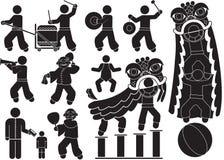 Danse de lion illustration libre de droits