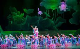 Danse de lotus Photos libres de droits