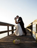 Danse de mariée et de marié Photo libre de droits