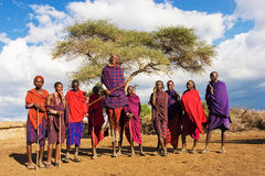 Danse de Massai Photo stock