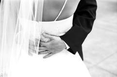 Danse de nouveaux mariés Images stock