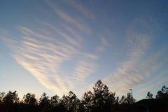 Danse de nuages Image libre de droits