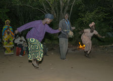 Danse de nuit Photo stock